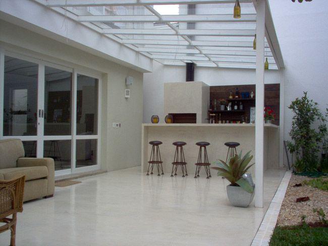 Telhado de Vidro para Churrasqueira