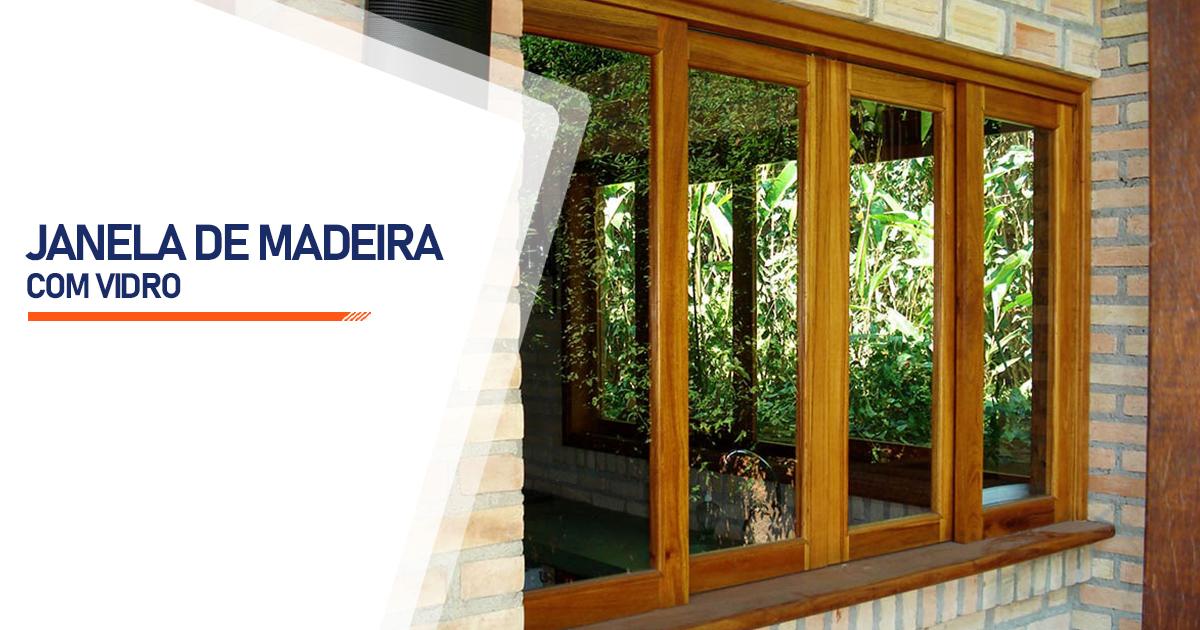 Janela De Madeira Com Vidro Brasília