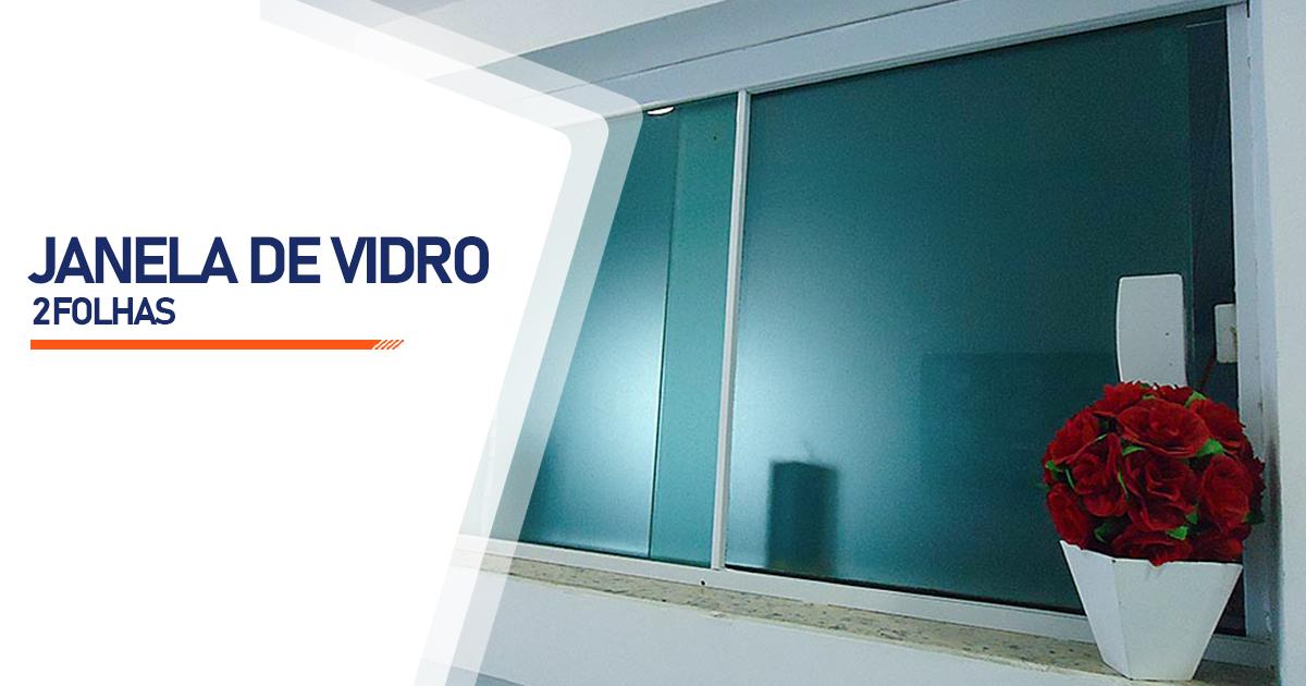 Janela De Vidro 2 Folhas Brasília