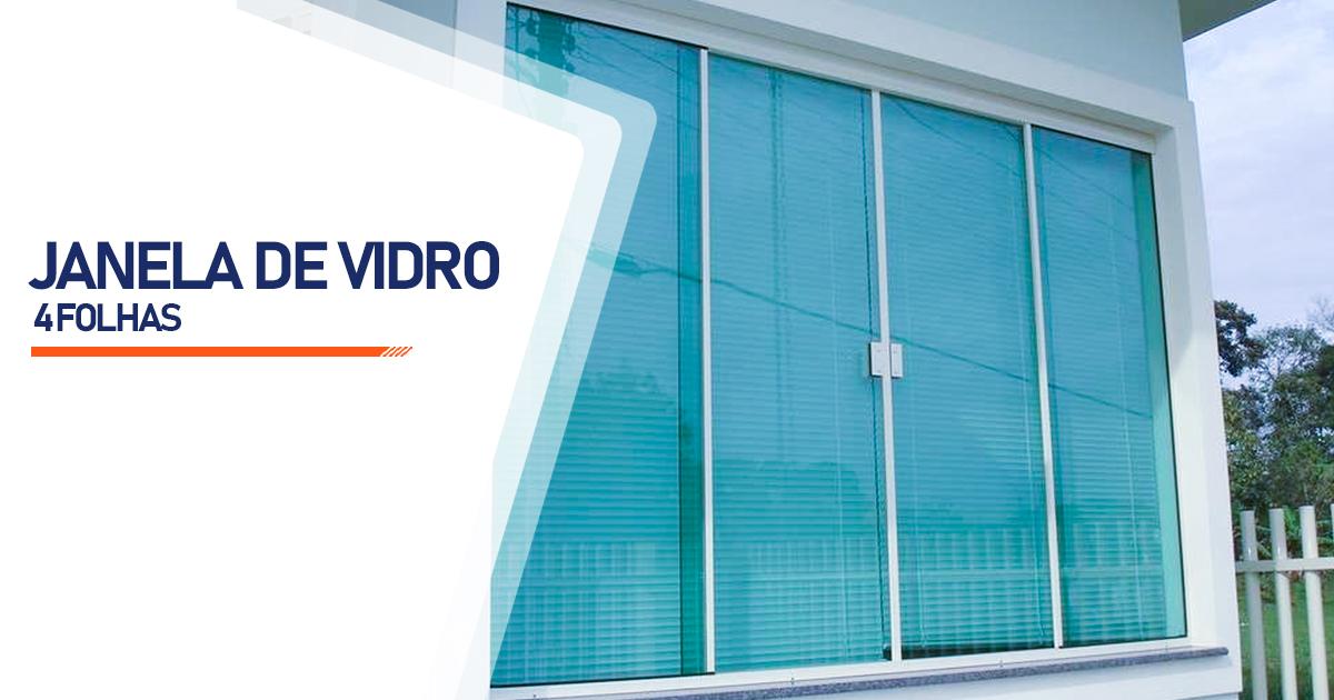 Janela De Vidro 4 Folhas Brasília