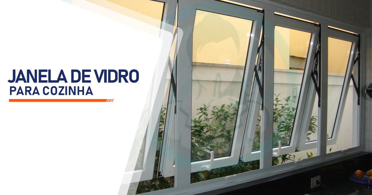 Janela de Vidro para Cozinha Brasília