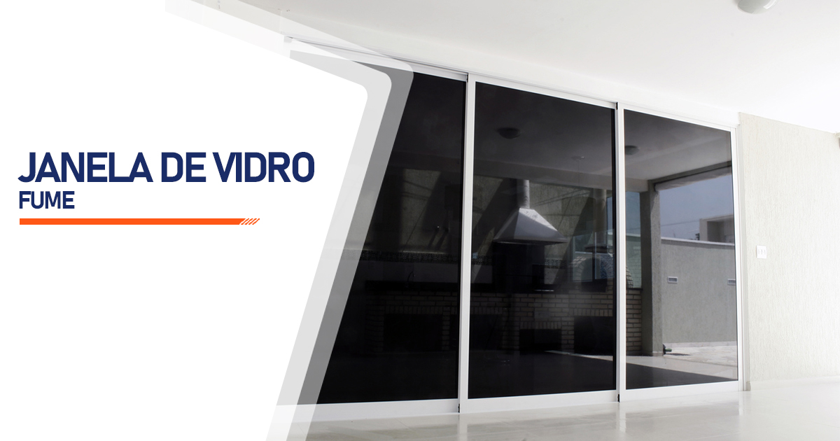 Janela De Vidro Temperado Fume Brasília
