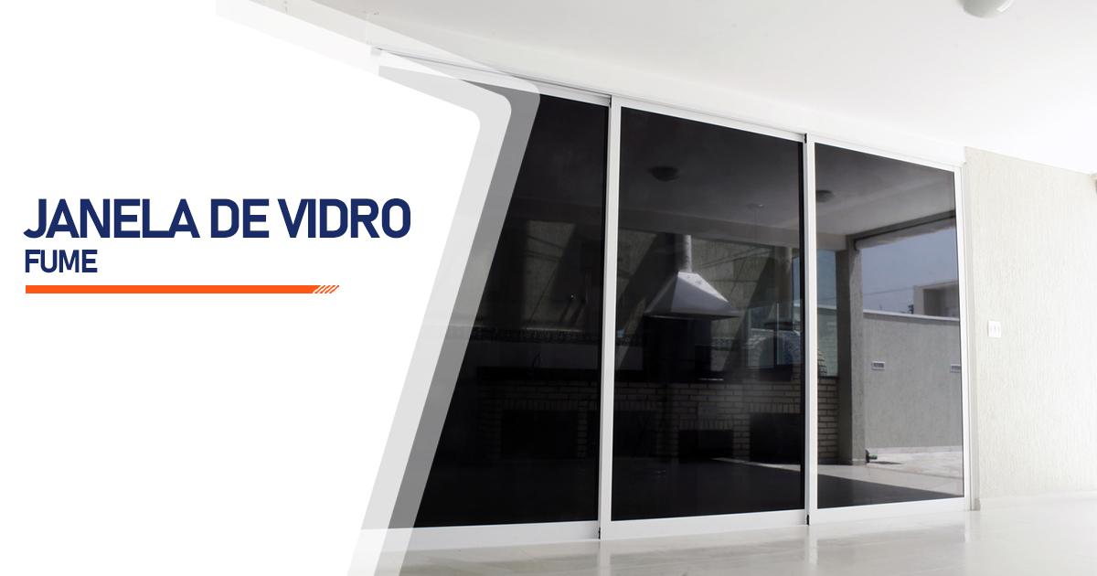 Janela Vidro Fume Brasília
