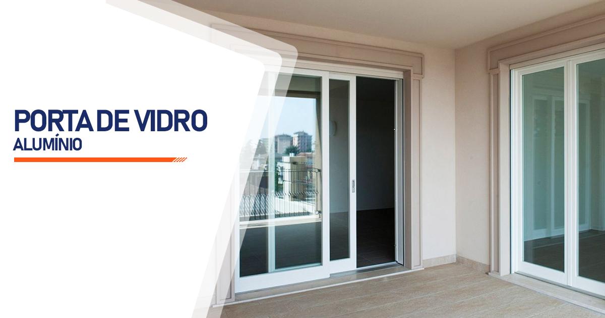 Porta De Vidro Aluminio Brasília
