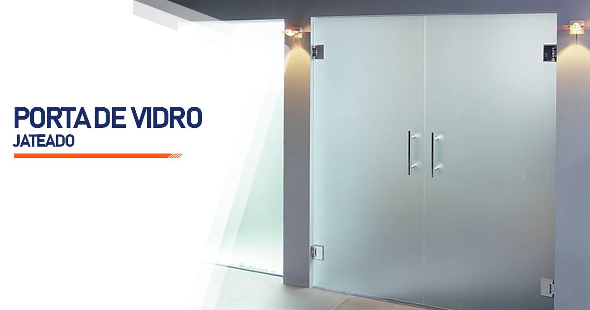 Porta De Vidro Jateado Brasília