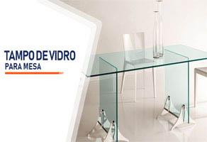 Tampo de Vidro Para Mesa Brasília