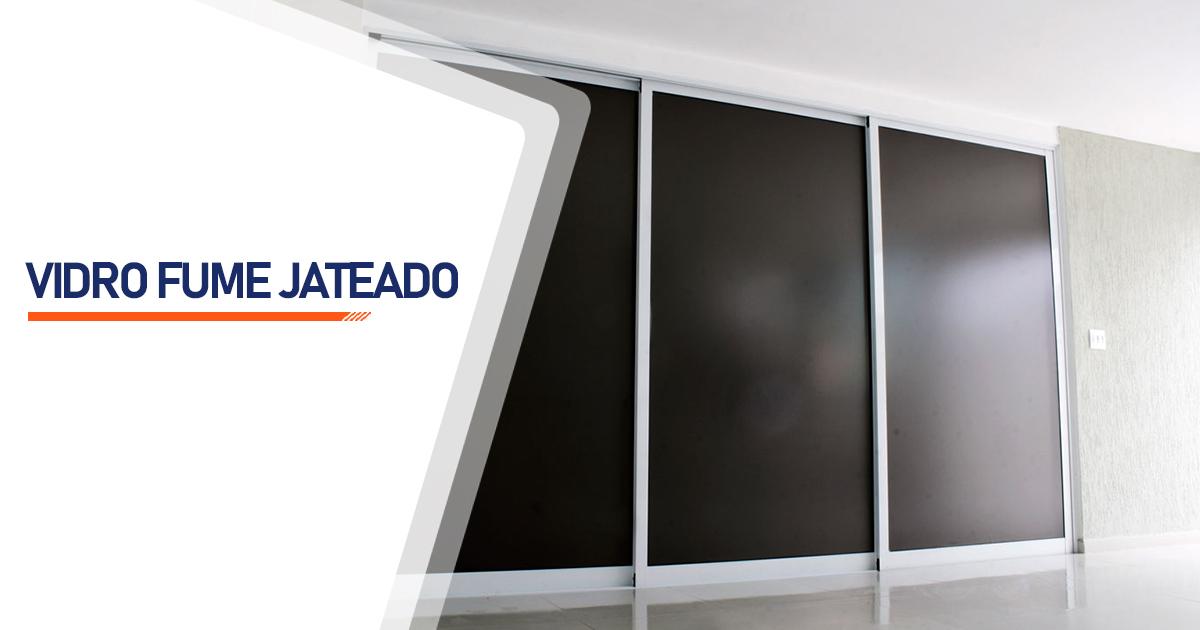 Vidro Fume Jateado Brasília