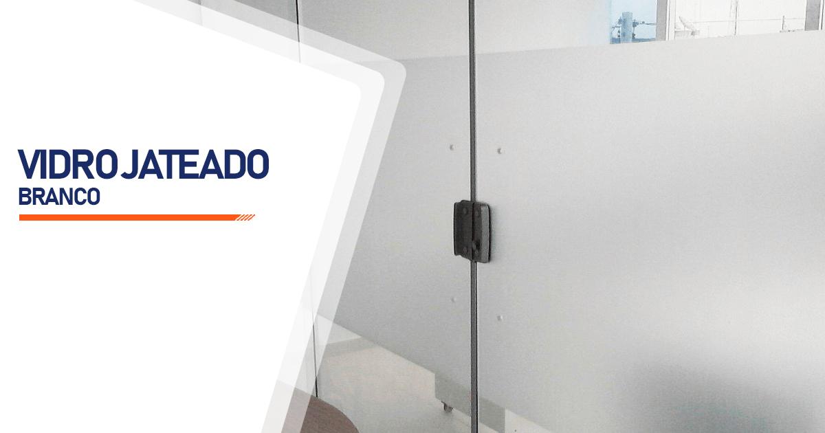 Vidro Jateado Branco Brasília
