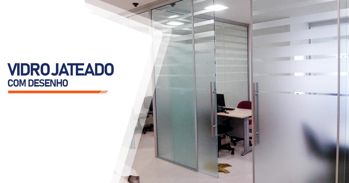 Vidro Jateado Com Desenho Brasília
